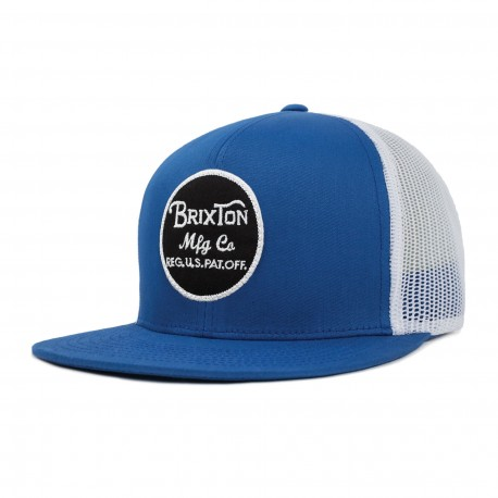 CASQUETTE BRIXTON WEELER MESH SNAPBACK / ROYAL WHITE