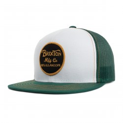 CASQUETTE BRIXTON WEELER MESH SNAPBACK / CHIVE