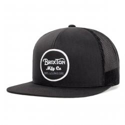 CASQUETTE BRIXTON WEELER MESH SNAPBACK / BLACK BLACK