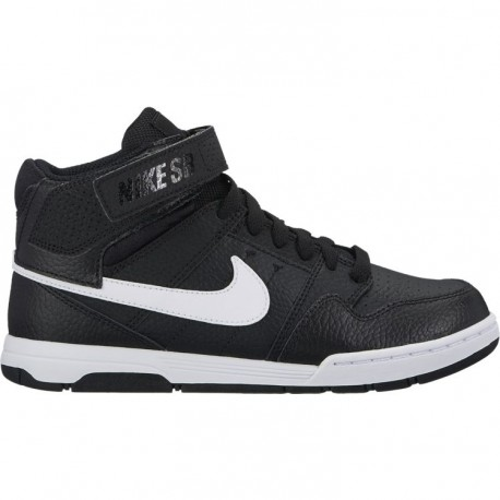 CHAUSSURE NIKE SB MOGAN MID GS / BLACK WHITE