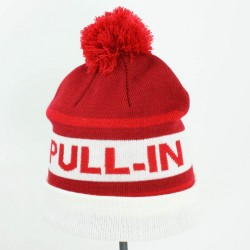 PULL IN BEANIE POM RED