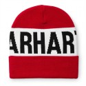 BONNET CARHARTT WIP SHORE BEANIE - FIRE RED / WHITE