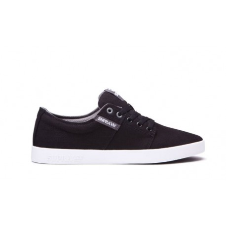 CHAUSSURE SUPRA STACKS II - BLACK - STITCH WHITE