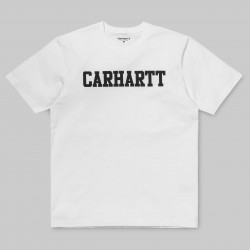 T-SHIRT CARHARTT COLLEGE - WHITE/BLACK
