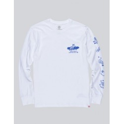 T-SHIRT L/S WHEELIN - OPTIC WHITE