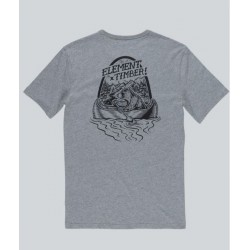 T-SHIRT ELEMENT ROAR N ROW - HEATHER GREY