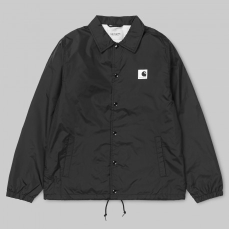 VESTE CARHARTT WIP SPORTS COACH JACKET - BLACK / WAX