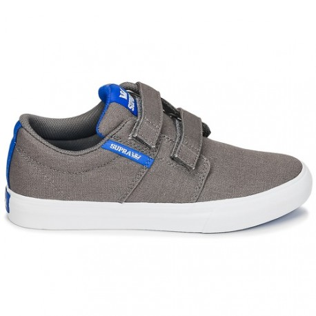 CHAUSSURE SUPAR STACK VULC 2 VELCRO DARK GREY