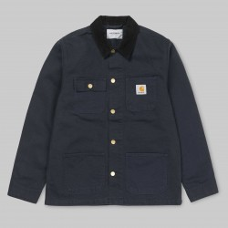 VESTE CARHARTT WIP MICHIGAN CHORE - DARK NAVY/BLACK RINSED