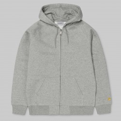 SWEAT HOODIE CARHARTT WIP CHASE JACKET - GREY HEATHER GOLD