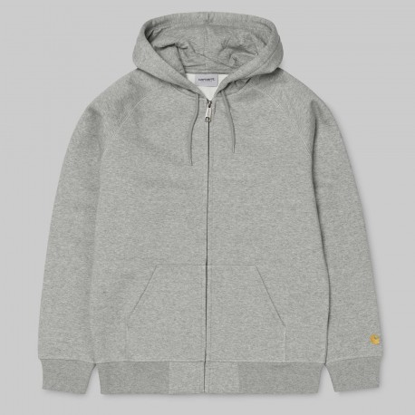 SWEAT HOODIE CARHARTT WIP CHASE - GREY HEATHER/GOLD