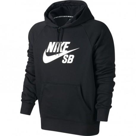 chaussures de sport cc51c 4b9eb Sweat Nike Sb Icon Po Hoodie - Black / White