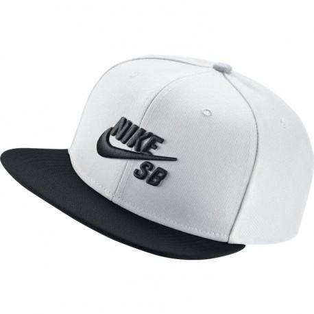 CASQUETTE NIKE SB PRO CAP - WHITE/BLACK