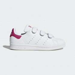CHAUSSURE FEMME STAN SMITH - WHITE / PINK