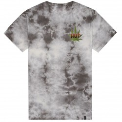 T-SHIRT HUF BACKLIGHT PANTHER - GREY CRYSTAL WASH