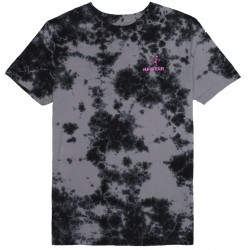 T-SHIRT HUF OWSLEY - BLACK CRYSTAL WASH