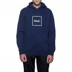 SWEAT HUF OUTLINE BOX LOGO - NAVY