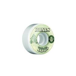ROUES BONES 100'S V4 OG WHITE - 53 MM