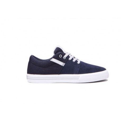 CHAUSSURE KID SUPRA STACKS VULC II - NAVY / GREY / WHITE