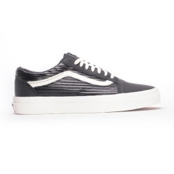 CHAUSSURE VANS OLD SKOOL MOTO LTHR - BLACK WHITE