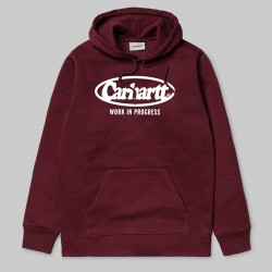 SWEAT CARHARTT WIP OVAL - CHIANTI / WHITE