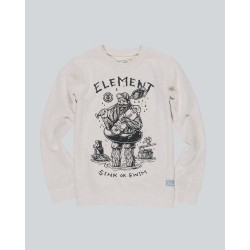 SWEAT ELEMENT KID RIVER KEEPER CREW - OATMEAL HEATHER