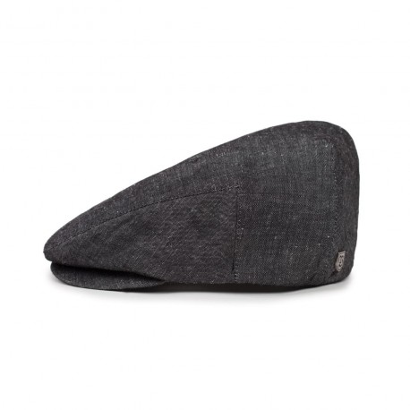 BERET BRIXTON HOOLIGAN SNAP - BLACK / LINEN