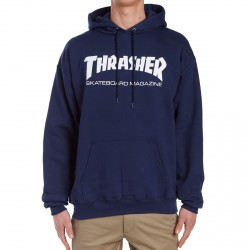 SWEAT THRASHER HOOD SKATE MAG - NAVY