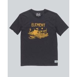 T-SHIRT ELEMENT RIVER DREAM - OFF BLACK