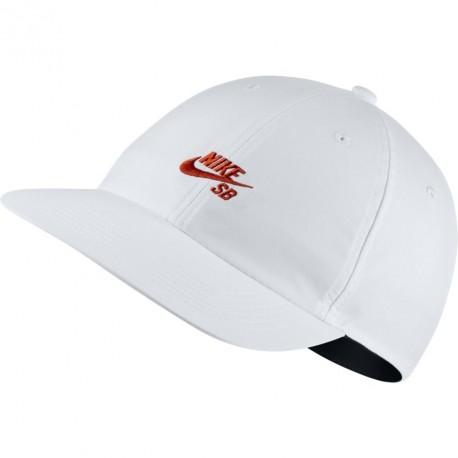 CASQUETTE NIKE SB CAP FLAT - WHITE / VINTAGE CORAL