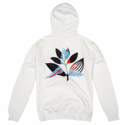 SWEAT MAGENTA HOOD PARROT - WHITE