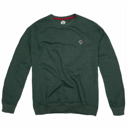 SWEAT MAGENTA CREWNECK BRODE - GREEN