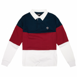 POLO MAGENTA LS TRICOLOR - NAVY / RED / WHITE