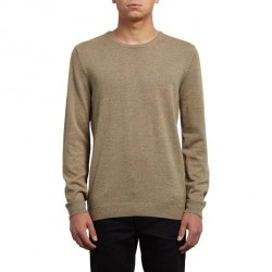 PULL VOLCOM UPERSTAND CREW - SAND BROWN