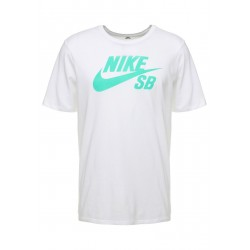 T-SHIRT NIKE SB DRY - WHITE / MINT