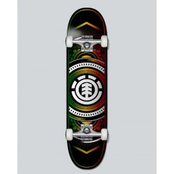 SKATEBOARD COMPLET ELEMENT HATCHED RASTA 8""