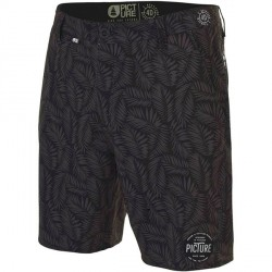 "BOARDSHORT PICTURE DETROIT 19"" - BLACK LEAF"
