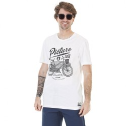 T-SHIRT PICTURE DAD & SON WHEEL - WHITE
