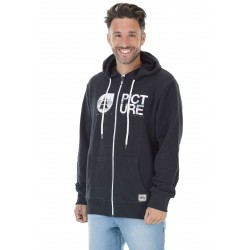SWEAT PICTURE ORGANIC BASEMENT ZIP MIAMI HOOD - BLACK