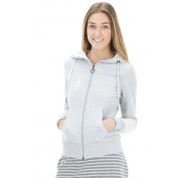 SWEAT PICTURE ORGANIC FEMME BASEMENT ZIP - GREY MELANGE