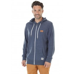 SWEAT PICTURE ORGANIC MILTRON HOOD ZIP - DARK BLUE