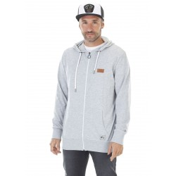 SWEAT PICTURE ORGANIC MILTRON HOOD ZIP - GREY