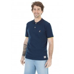 POLO PICTURE ORGANIC BARRET - DARK BLUE