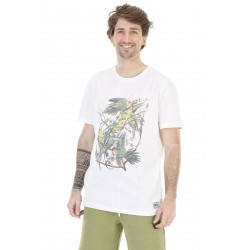 T-SHIRT PICTURE PARROT - WHITE
