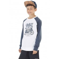 T-SHIRT PICTURE TRAVEL LS - WHITE