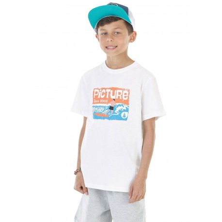 T-SHIRT PICTURE BAREL - WHITE