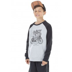 SWEAT PICTURE ORGANIC RODSTER - GREY MELANGE