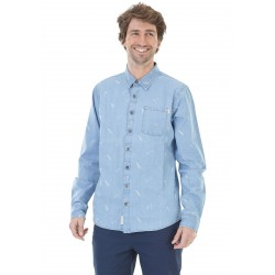 CHEMISE PICTURE PUAKO SHIRT - WASHED DENIM