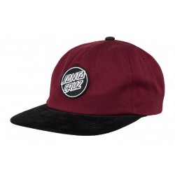 CASQUETTE SANTA CRUZ LOT CAP - BLOOD BLACK