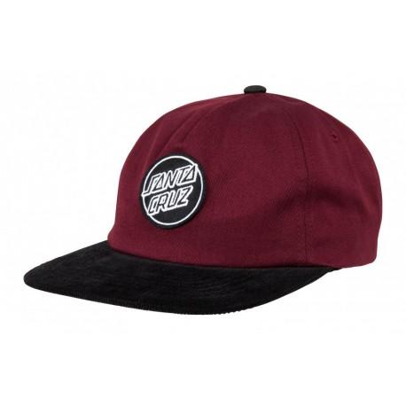 CASQUETTE SANTA CRUZ LOT CAP - BLOOD BLACK